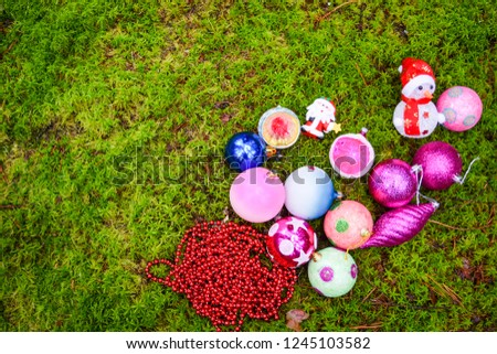 Christmas balls and Christmas baubles. Christmas decor. Christmas baubles #1245103582