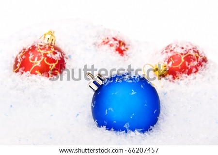 christmas balls background - stock photo