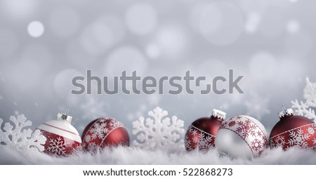 Christmas balls background, silver decoration
