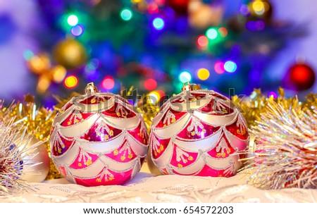 Christmas balls. Christmas baubles #654572203