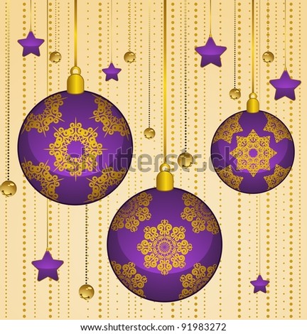 Christmas balls decoration Happy New Year bauble.