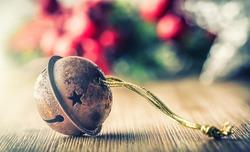 Christmas balls jingle bells stars decorations.
