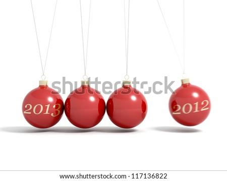 Christmas balls new year's eve Newton pendulum 2012 - 2013