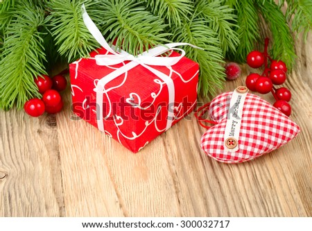Christmas balls, stars and lamp near wooden chests on a white background. A Christmas background with a place for the text.