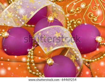 Christmas. Balls with decoration