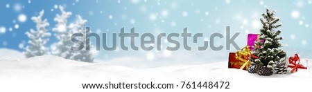 christmas banner panorama background #761448472