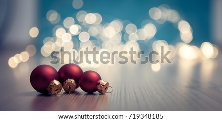 christmas banner with  christmas baubles #719348185