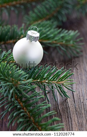 christmas bauble and fir for christmas