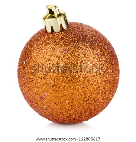 Christmas bauble. Isolated on white background