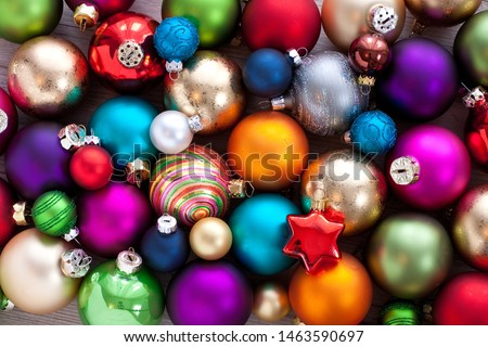 Christmas baubles and tree decorations #1463590697