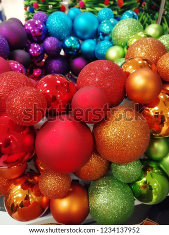 Christmas baubles decorations  #1234137952