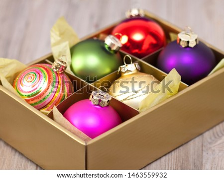 Christmas baubles in a box #1463559932