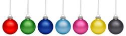 Christmas baubles isolated on white background. RGB+CMYK