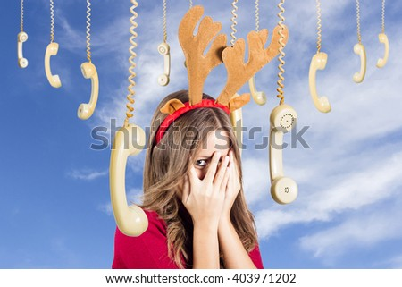 Stock Photo Christmas beautiful girl