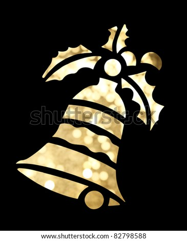 Christmas bell shape on black background