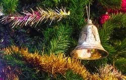 Christmas bells against defocused background