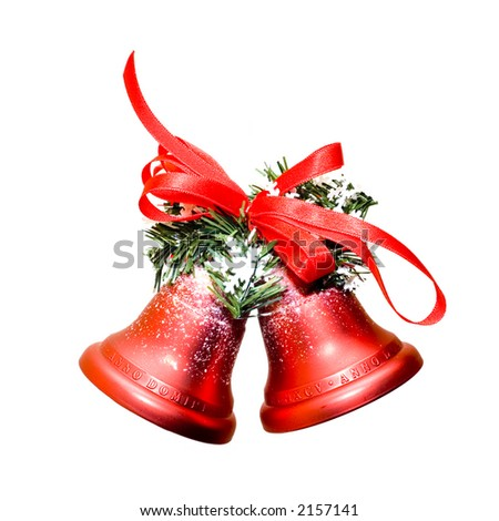 Christmas bells isolated on white background