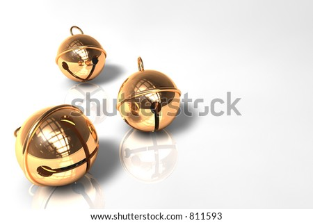 Christmas Bells on white
