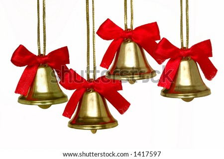 Christmas bells quartet - stock photo