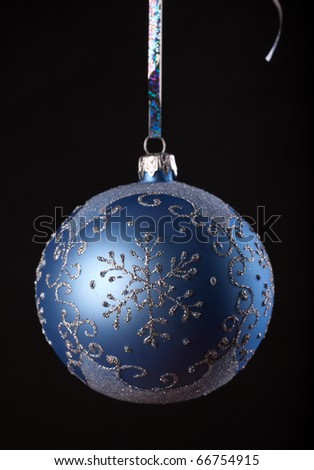 Christmas blue ball isolated on a white background