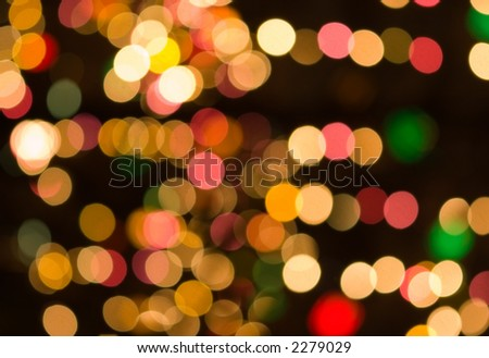 christmas bokeh -  abstract pattern
