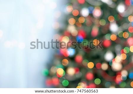 Christmas bokeh - Christmas tree in lights