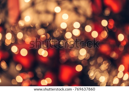 Christmas bokeh light abstract holiday background #769637860
