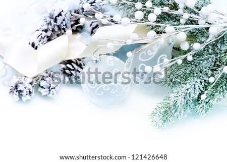 Christmas Border Art Design. Holiday Decorations