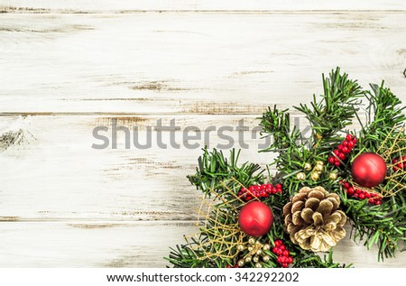 Christmas Border From Wreath Useful As Decoration 342292202