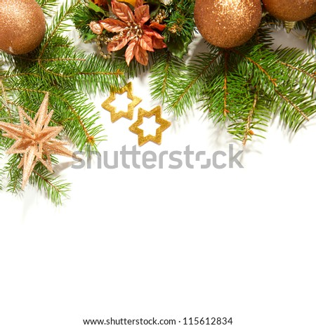 Christmas Border isolated on white