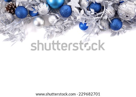 Christmas Border With Traditional Decorations Space For Copy 229682701