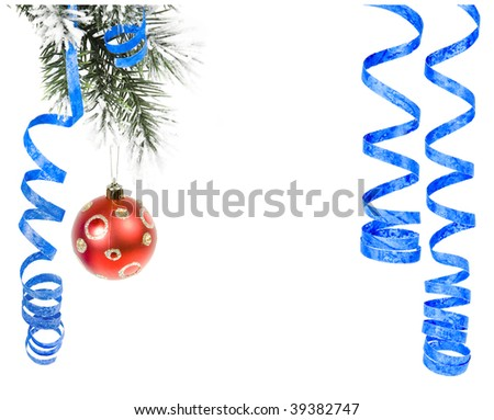 Christmas branch with christmas  ball