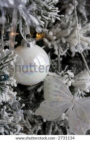 christmas bulb hanging on tree lights. nice background