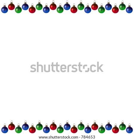 Christmas Bulbs Background/Frame