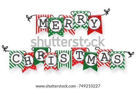 Christmas bunting flags  #749210227