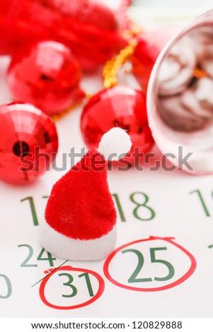Christmas calendar page