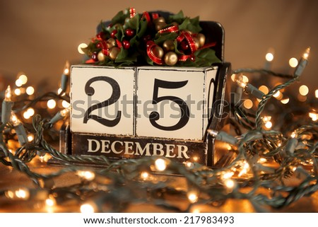 christmas calendar with 25th...