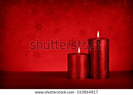 christmas candle #163864817
