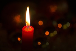Christmas Candle lights  Perfect background for a text