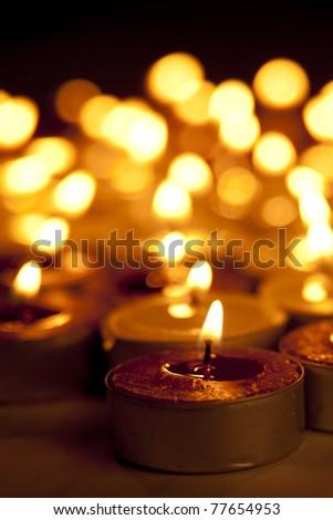 Christmas Candles - stock photo