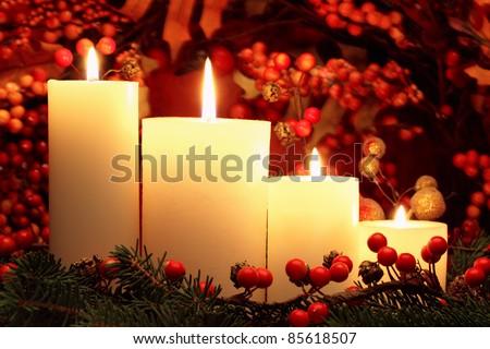 Christmas candles #85618507