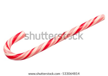 Christmas candy cane isolated on white background #533064814