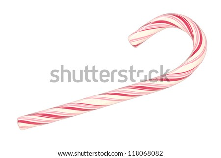 Christmas candy cane isolated on white background (3d illustration) #118068082