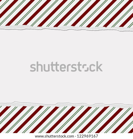 Christmas Candy Striped Background for your message or invitation with copy-space in the middle