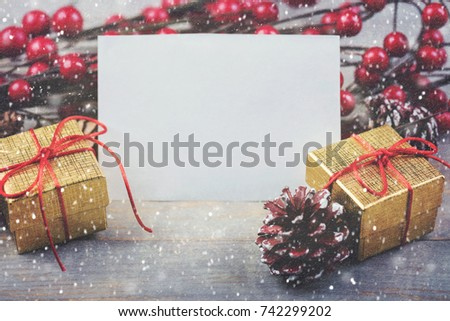Christmas card, background christmas ornaments #742299202