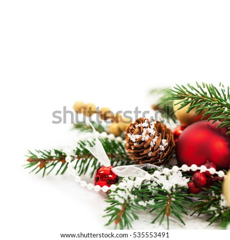 Christmas Card Background with Christmas Theme Background with space for text. Selective focus. #535553491