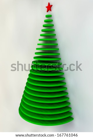 Christmas card, Christmas tree