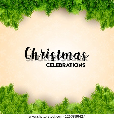 Christmas card design with elegant design and light background vector #1253988427