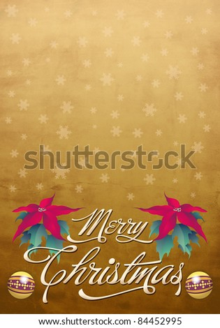 Christmas card - poster template