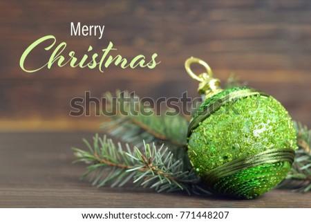 Christmas card with Christmas ball #771448207